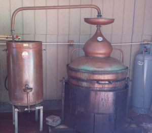60-Gallon Pot Still Shown with Heat Shield